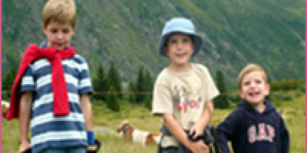 La montagne  l'été: activités avec les enfants.