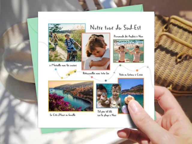 Les faire-part et cartes photos de vacances